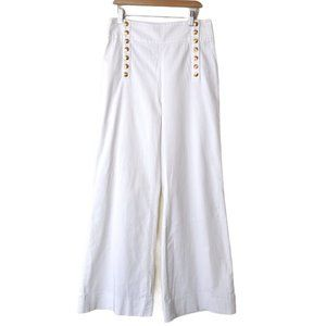 John Galliano Wide Leg Studded Cotton Sailor Pants